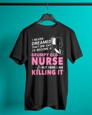 Grumpy Old Nurse Classic T-Shirt lifestyle-mens-crewneck-front-3
