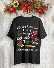 Retired Teacher - Enjoy Classic T-Shirt lifestyle-holiday-crewneck-front-2