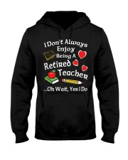 Retired Teacher - Enjoy Hooded Sweatshirt thumbnail