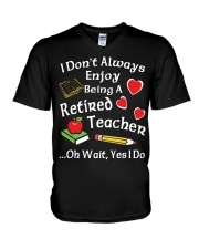Retired Teacher - Enjoy V-Neck T-Shirt tile