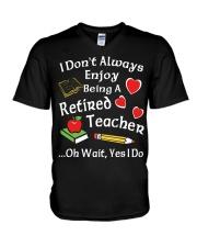 Retired Teacher - Enjoy V-Neck T-Shirt thumbnail