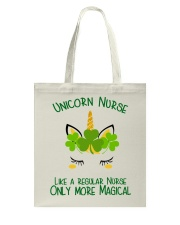Nurse Unicorn Shamrock Tote Bag thumbnail