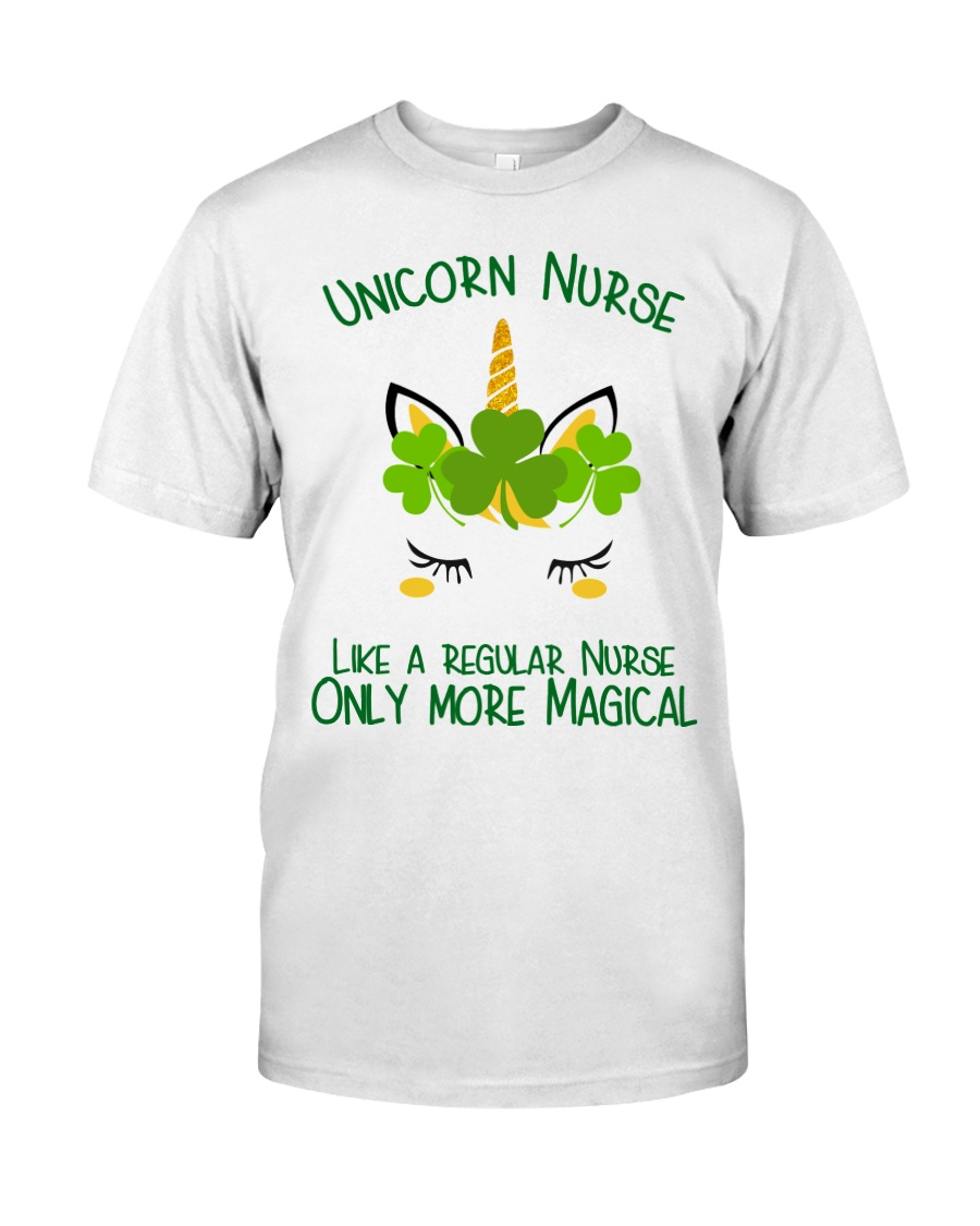 Nurse Unicorn Shamrock Classic T-Shirt