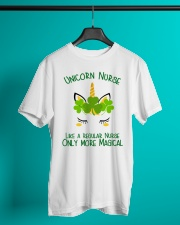 Nurse Unicorn Shamrock Classic T-Shirt lifestyle-mens-crewneck-front-3