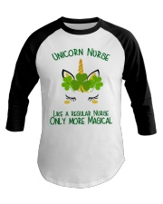 Nurse Unicorn Shamrock Baseball Tee thumbnail