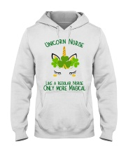 Nurse Unicorn Shamrock Hooded Sweatshirt thumbnail