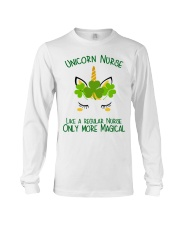 Nurse Unicorn Shamrock Long Sleeve Tee thumbnail