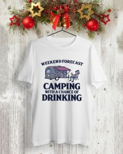 Weekend Forecast Camping - Drinking Classic T-Shirt lifestyle-holiday-crewneck-front-2