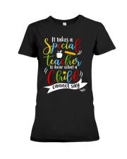 Special teacher hear a child can't say Premium Fit Ladies Tee thumbnail