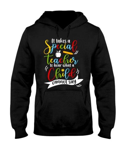 Special teacher hear a child can't say