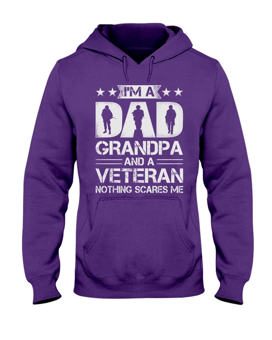Veteran - Dad and Grandpa - Nothing Scares me Hooded Sweatshirt