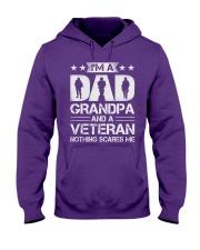 Veteran - Dad and Grandpa - Nothing Scares me Hooded Sweatshirt front