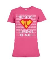 Math Teacher - The Secret SuperDigit of Math Premium Fit Ladies Tee thumbnail