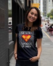 Math Teacher - The Secret SuperDigit of Math Ladies T-Shirt lifestyle-women-crewneck-front-5