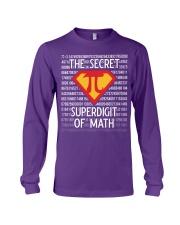 Math Teacher - The Secret SuperDigit of Math Long Sleeve Tee thumbnail