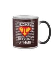 Math Teacher - The Secret SuperDigit of Math Color Changing Mug thumbnail