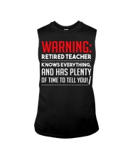 Warning Retired Teacher  Sleeveless Tee thumbnail