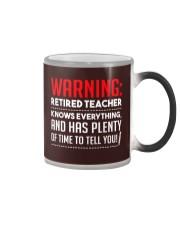 Warning Retired Teacher  Color Changing Mug thumbnail