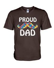 Autism - Proud Dad V-Neck T-Shirt thumbnail