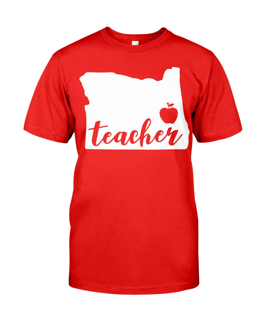 Oregon Teacher - Map Classic T-Shirt