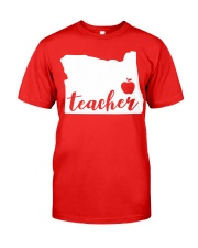 Oregon Teacher - Map Classic T-Shirt thumbnail