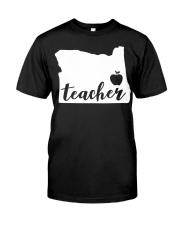 Oregon Teacher - Map Premium Fit Mens Tee tile
