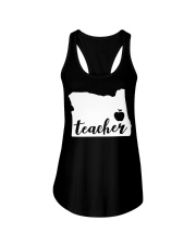 Oregon Teacher - Map Ladies Flowy Tank thumbnail