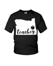 Oregon Teacher - Map Youth T-Shirt thumbnail