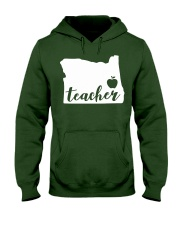Oregon Teacher - Map Hooded Sweatshirt tile