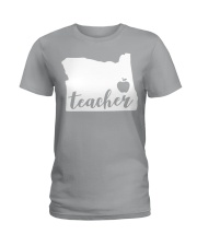 Oregon Teacher - Map Ladies T-Shirt thumbnail