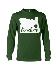 Oregon Teacher - Map Long Sleeve Tee tile