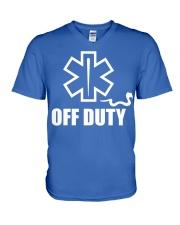 Paramedic - EMT - EMS - OFF DUTY V-Neck T-Shirt thumbnail