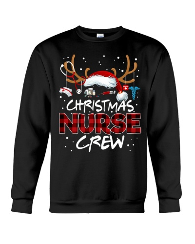 Nurse - Christmas Nurse Crew - Reindeer Red Plaid