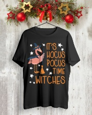 Teacher - It's Hocus Pocus Time Witches Classic T-Shirt lifestyle-holiday-crewneck-front-2