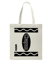 Crayon - White Tote Bag tile