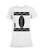 Crayon - White Premium Fit Ladies Tee thumbnail