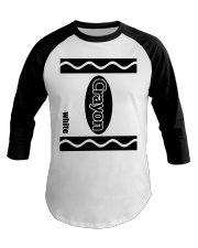 Crayon - White Baseball Tee tile