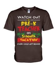 Pre-K Teacher - Summer V-Neck T-Shirt thumbnail