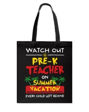 Pre-K Teacher - Summer Tote Bag thumbnail