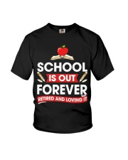 Retired Teacher - School is Out Youth T-Shirt thumbnail