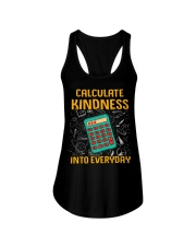 Math Teacher - Calculate Kindness Into Everyday Ladies Flowy Tank thumbnail