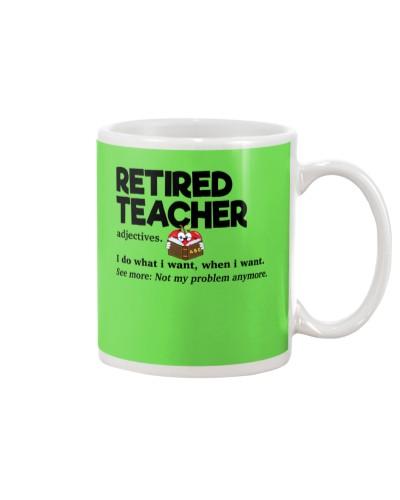 Retired Teacher - Adjectives