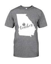 Georgia Teacher - Map Classic T-Shirt tile
