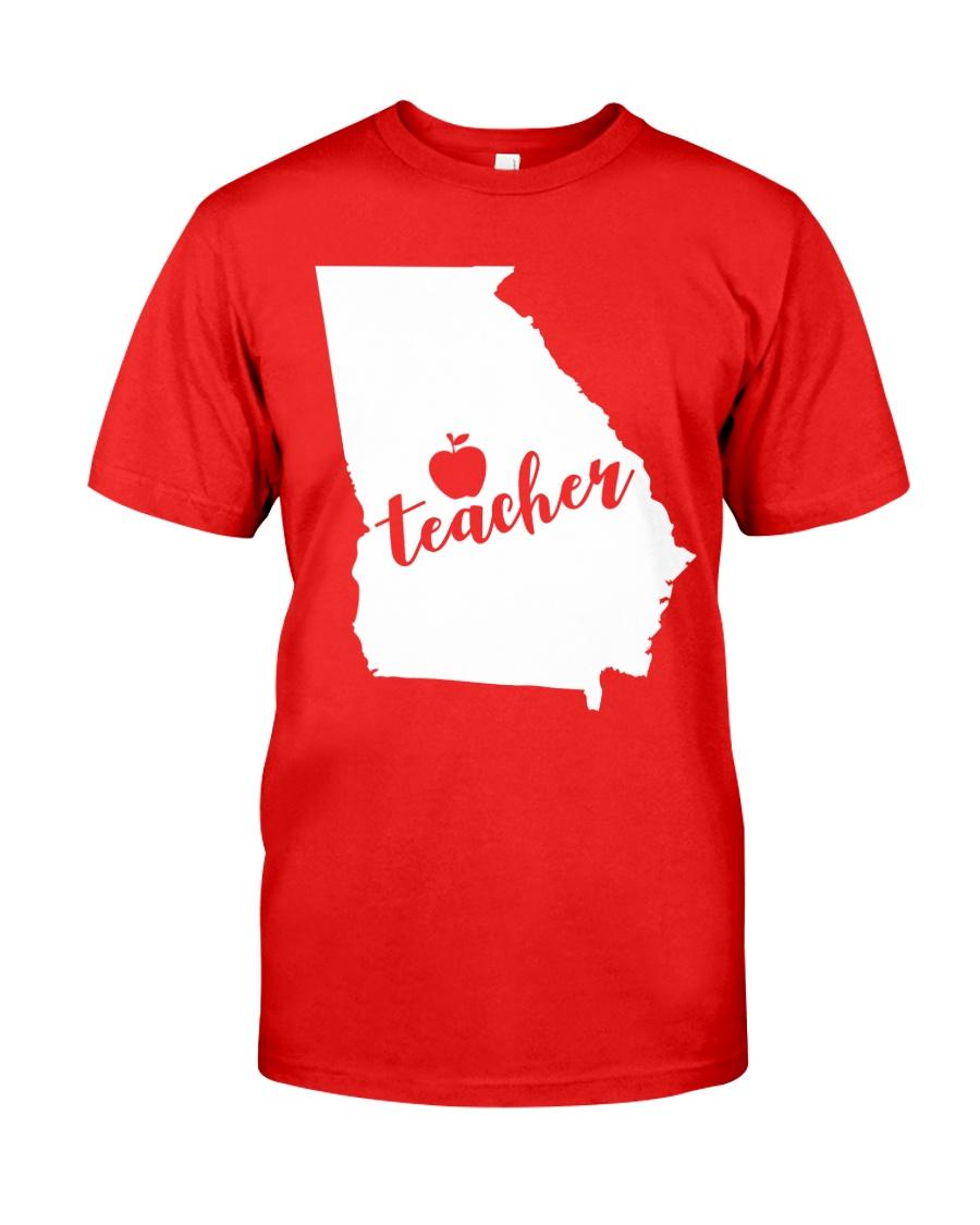 Georgia Teacher - Map Classic T-Shirt
