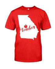Georgia Teacher - Map Classic T-Shirt front