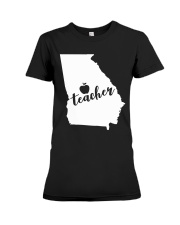 Georgia Teacher - Map Premium Fit Ladies Tee thumbnail