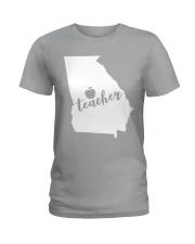 Georgia Teacher - Map Ladies T-Shirt thumbnail