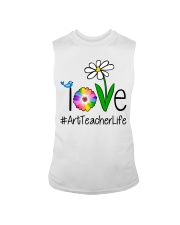 Love Art Teacher Life Sleeveless Tee tile