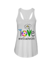 Love Art Teacher Life Ladies Flowy Tank tile