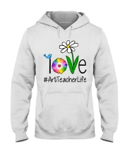 Love Art Teacher Life Hooded Sweatshirt tile